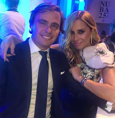 Marta Sánchez junto al empresario Federico León