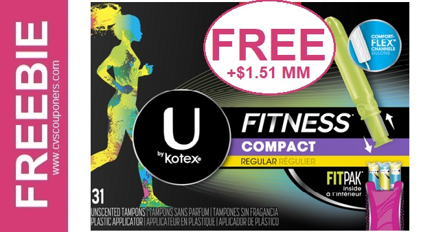 FREE U By Kotex Fitness Tampons at CVS 106-1012