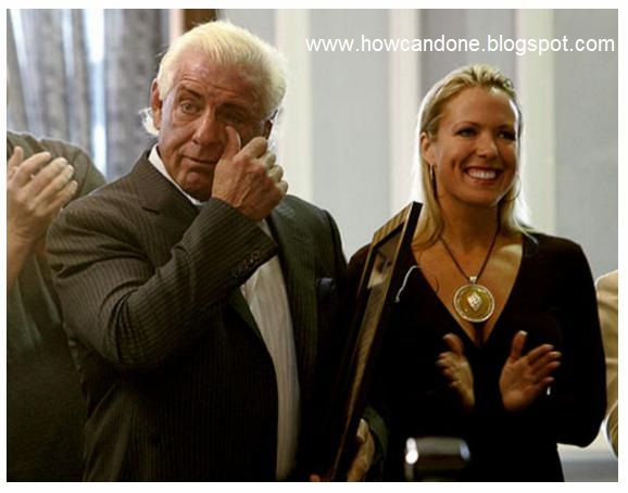 ric flair with his wife in party