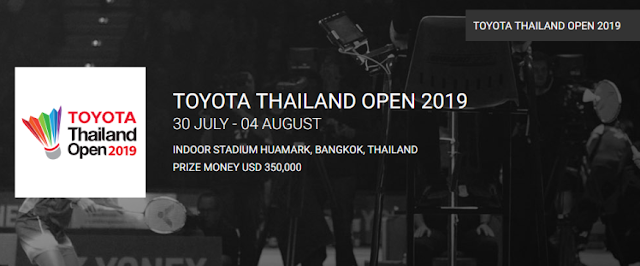 Jadwal Live Streaming Toyota Thailand Open 2019