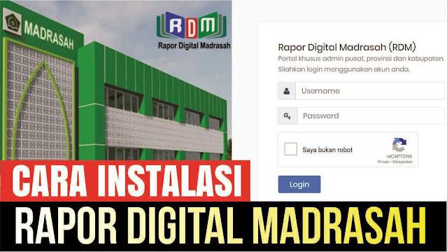 Download Aplikasi Rapor Digital Madrasah (RDM) Dan Cara Instalasi