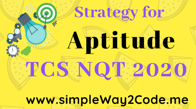 Strategy for Aptitude - SimpleWay2Code