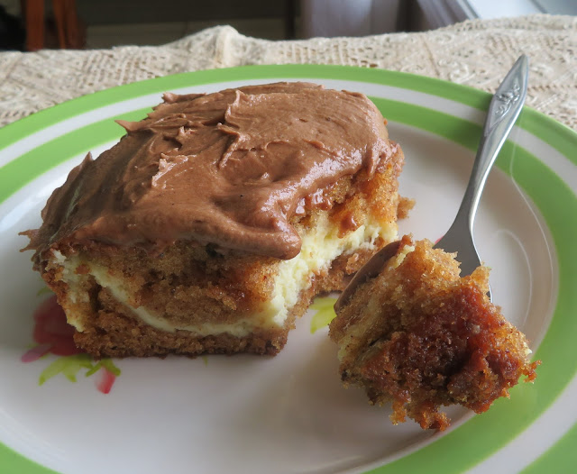 Spice Cake with a Spicy Mocha Frosting