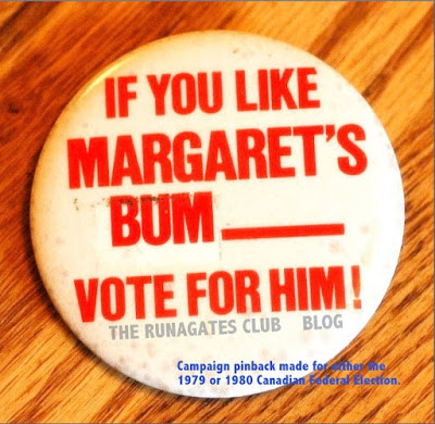 Margaret Trudeau campaign button - 1979 or 1980 Federal election