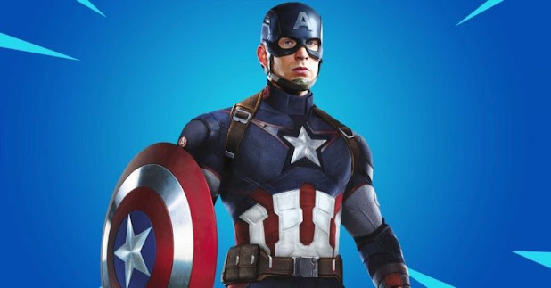 فورت نايت : تسريب سكن جديد كابتن أمريكا Captain America