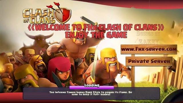 Clash Of Clans Mod FHx v7 Apk Server X (Full Mod)
