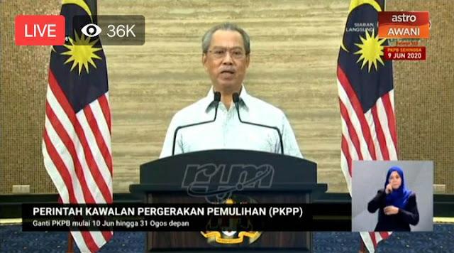 Perintah Kawalan Pergerakan Pemulihan (PKPP) Diganti bermula 10 Jun Ini