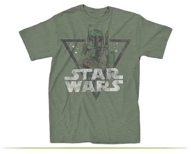 Star Wars Retro Boba Fett Adult T-Shirt  |  www.9CoolThings.com