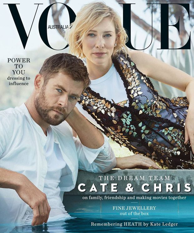 Thor & Hela on Vogue Australia November 2017 Cover Page