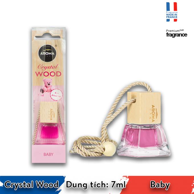 Tinh dầu treo ô tô Aroma Car Crystal Wood 7ml - Baby