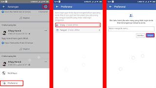 mengurutkan kenanga facebook berdasarkan teman yang ditandai
