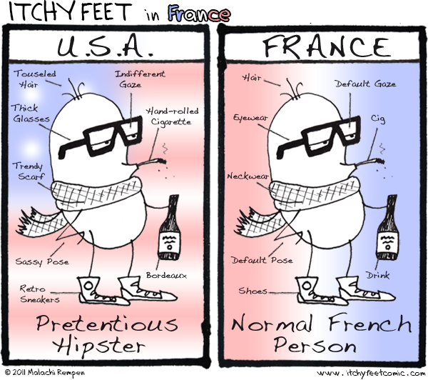 hipsters are just normal french people