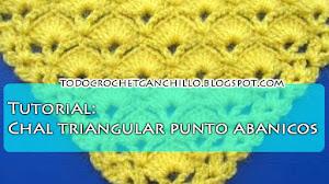 Tutorial / Aprendemos a tejer chal triangular punto abanicos