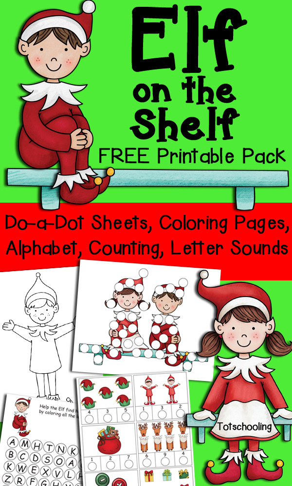 photo regarding Elf on the Shelf Letter Printable named Elf upon the Shelf Printable Pack for Small children Totschooling
