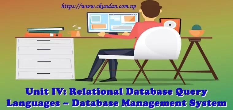 Relational Database Query Languages – Database Management System