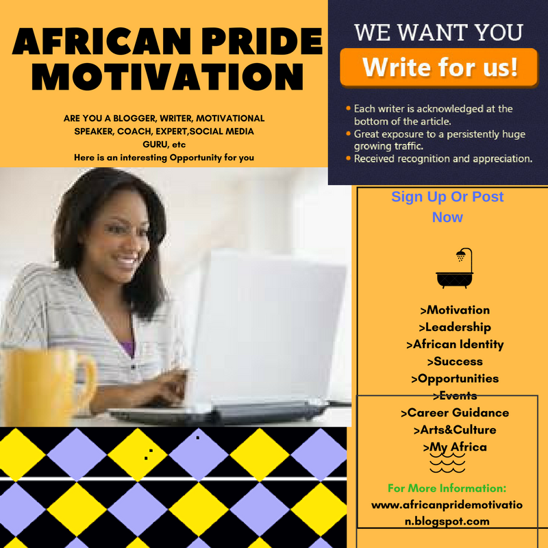 Write for Us - African Pride Motivation