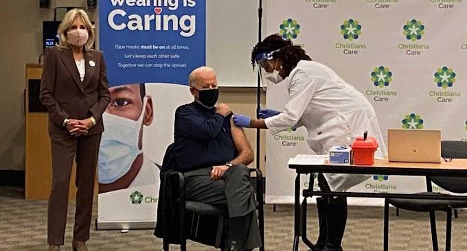 Covid, Biden e la moglie vaccinati in diretta tv