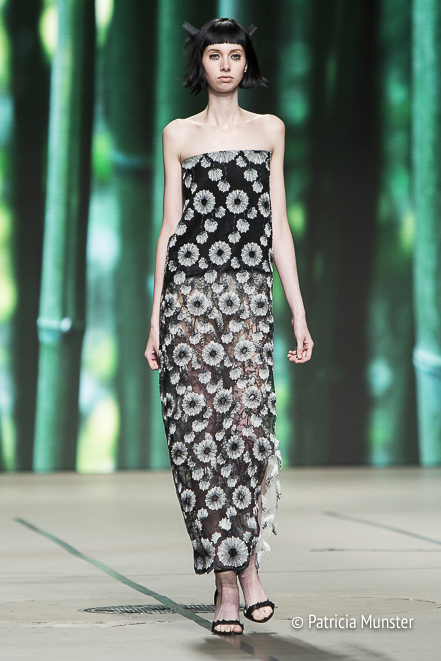 Black and white dress by Tony Cohen at Amsterdam Fashion Week