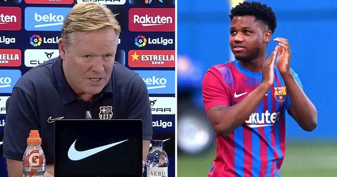 Barcelona boss Koeman provides Ansu Fati Fitness Update