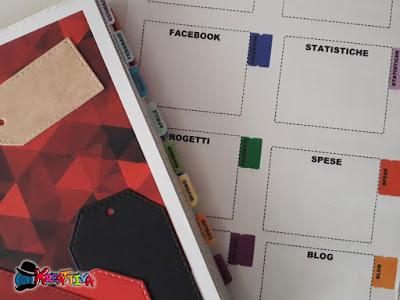 etichette per social adesive per bullet journal