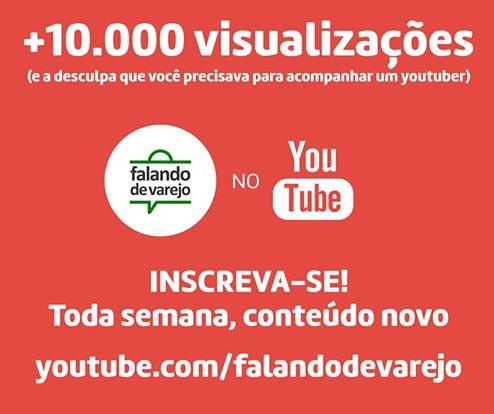 Nosso canal no YouTube: Passamos os primeiros 10.000 acessos