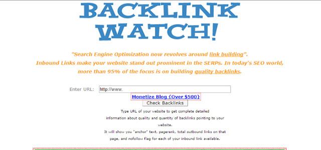 backlink watch - free online backlink checker tool