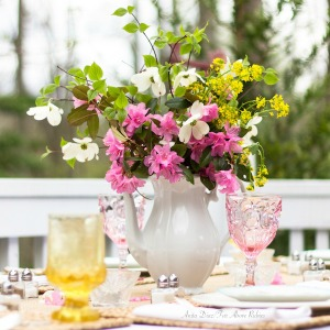 Far Above Rubies Spring Table Setting