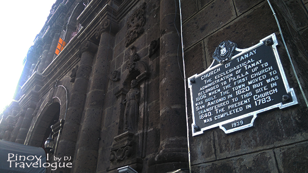 Historical marker of Tanay Church
