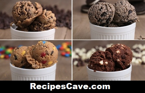 Edible Cookie Dough 4 Ways
