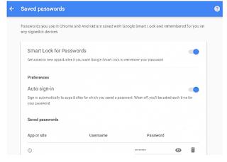 Google Smart  Password Lock