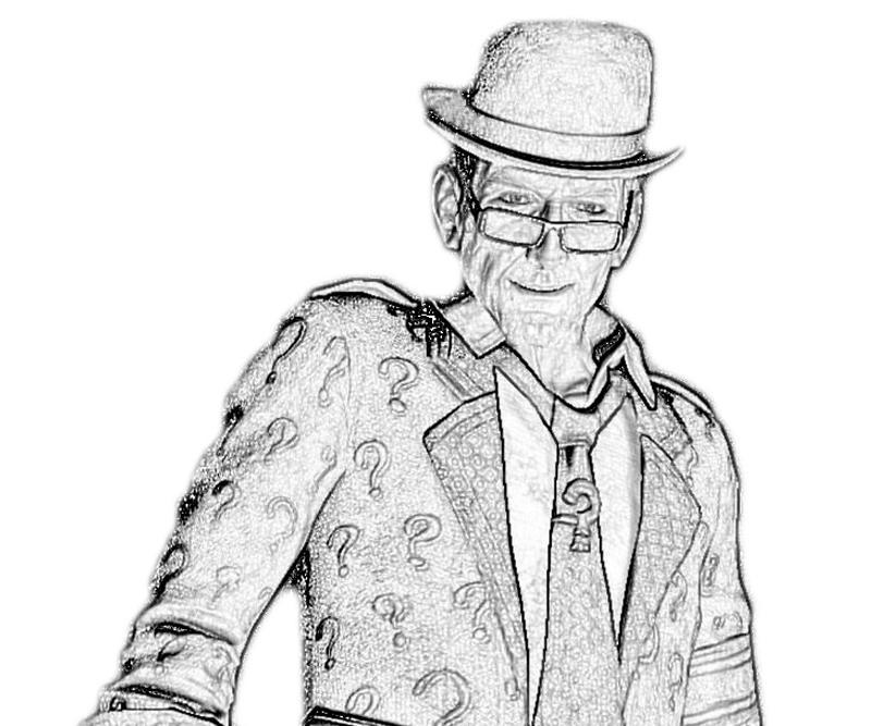 coloring pages batman riddler - photo#32