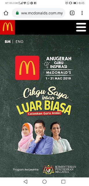 Anugerah Guru Inspirasi McDonalds 2019