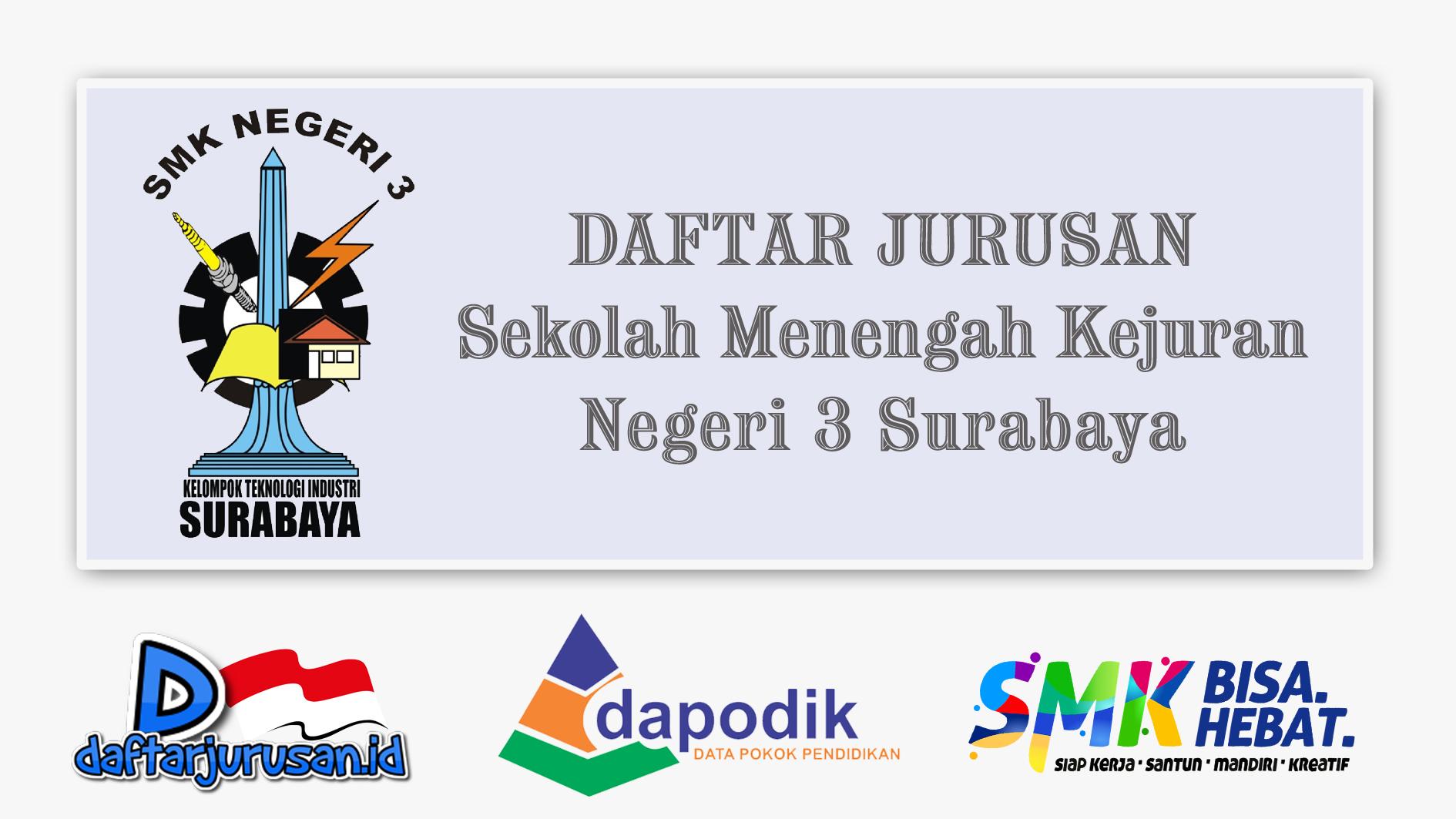 Daftar Jurusan SMK Negeri 3 Surabaya