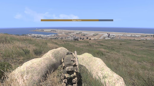 Arma3用リアリズムMODのトレンチ機能