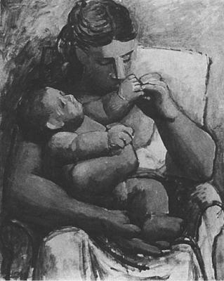 Пикассо Мать с ребенком