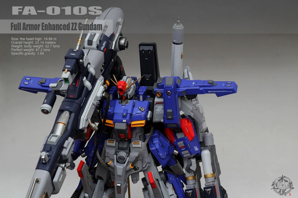Custom Build: 1/72 FA-010S Full Armor ZZ Gundam [Detailed]