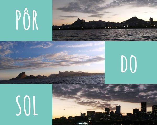 Passeio de barco na Baía de Guanabara, no Rio de Janeiro, e com um lindo pôr do sol