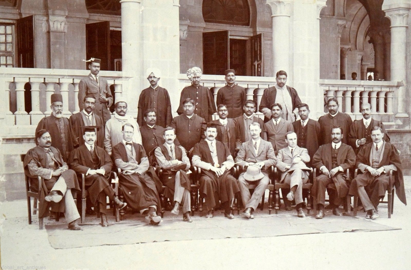 Group Photograph of Indian and European Men