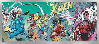 Marvel's X-Men #1 Foil Variant Fine Art Giclee Prints by Jim Lee & Scott Williams x Grey Matter Art