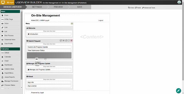 Joget Userview Builder