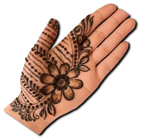Simple Mehndi Design Flower