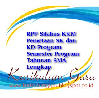 RPP Silabus KKM Pemetaan SK dan KD Program Semester Program Tahunan SMA Lengkap
