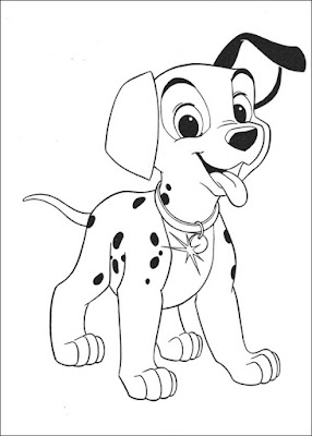 Gambar Sketsa Anjing Lucu