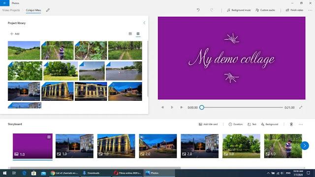 Colaje video din poze cu muzica in windows 10