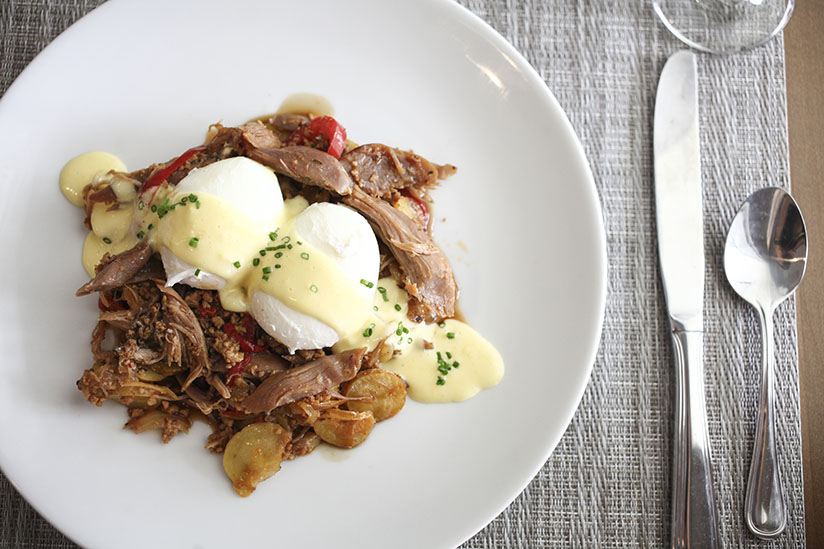Duck Confit Hash at 3 Palms Grille in Ponte Vedra Beach