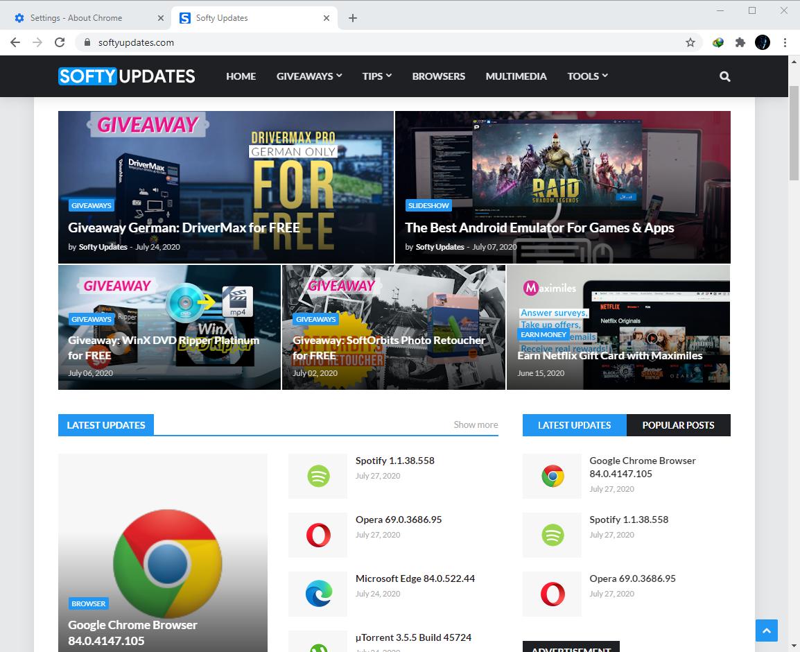 Google Chrome Browser 84.0.4147.105
