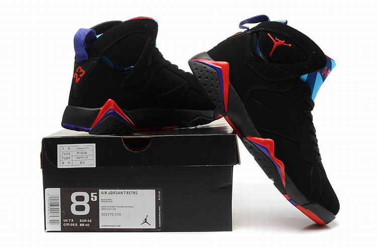 c3d39c18003eb1 Cheap Air Jordans 7 Retro Raptor Black True Red Dark Charcoal Club Purple  For Sale