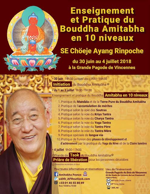 Ayang Rinpoché Pratique du Bouddha Amitabha en dix niveaux