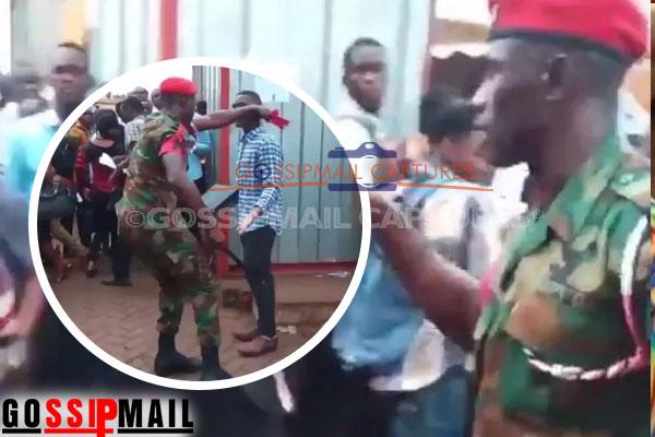 Military officers severely beat prospective National Service personnel in Accra, leaves lady bleeding