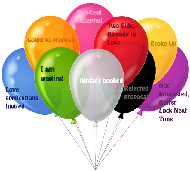 Valentine's Day Balloons Dress Code Colour Meanings